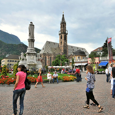 Sights and culture in Bolzano the capital of South Tyrol